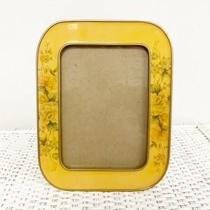 """Vintage Floral Gold 4"""" x 6"""" Rounded Picture Frame"""